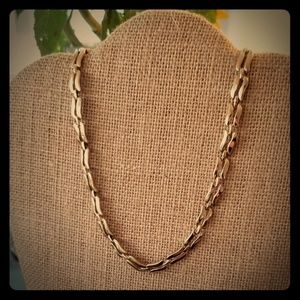 Vintage Monet Goldtone Double Bar Necklace